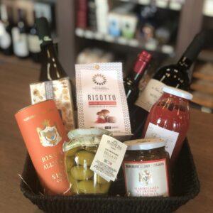 Grande Viaggio - geschenkmand met producten uit heel Italië